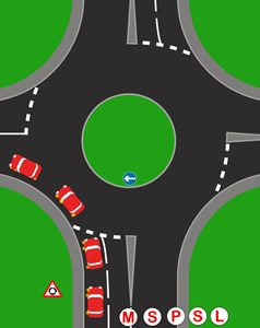 Roundabouts first exit