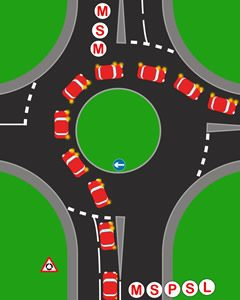 Roundabouts third exit